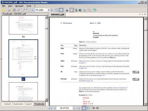 Чтение PDF файлов.