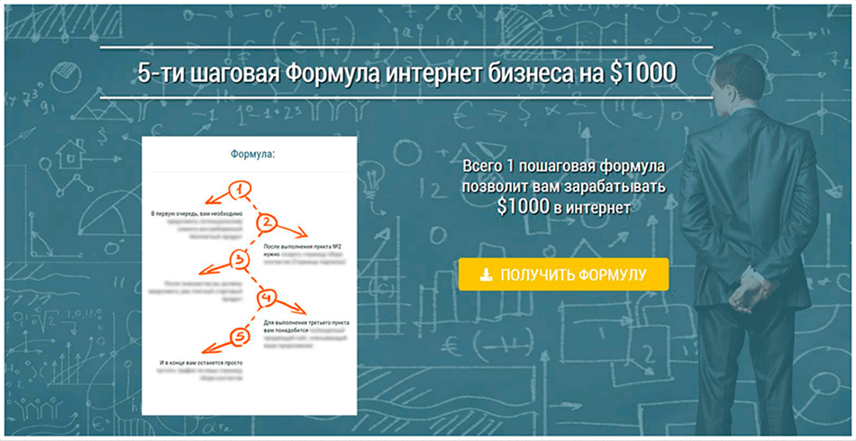 5-ти шаговая Формула интернет бизнеса на $1000