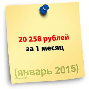 Итоги января 2015