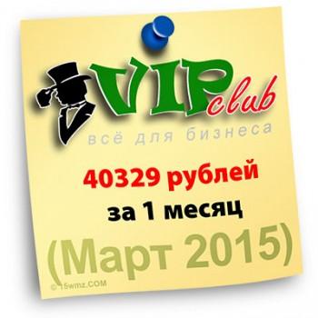 Итоги за март 2015