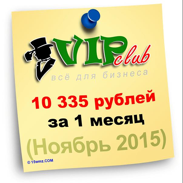 Итоги за ноябрь 2015