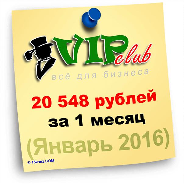 Итоги за январь 2016