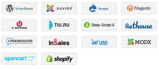 Список плагинов JivoSite для интеграции в CMS