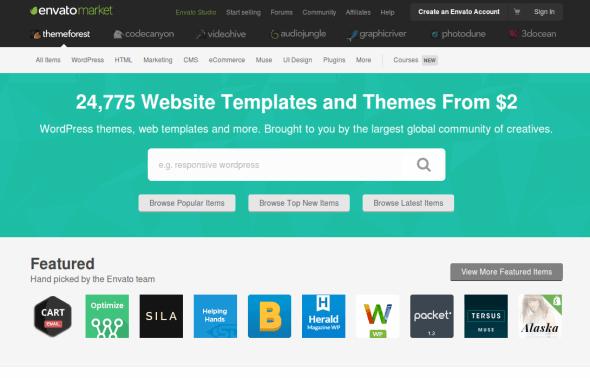 Themeforest — основное место для покупки шаблонов Landing Page