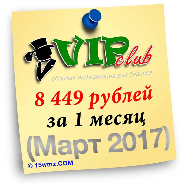 Итоги за март 2017