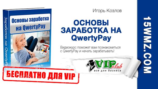 Основы заработка на QwertyPay